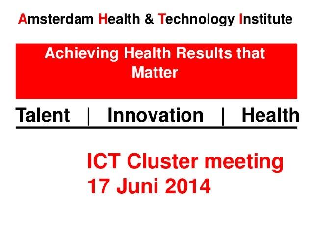 Ict cluster meeting