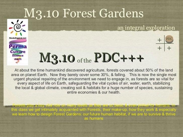 PDC+++ Module 3 Class 10 Forest Gardens I