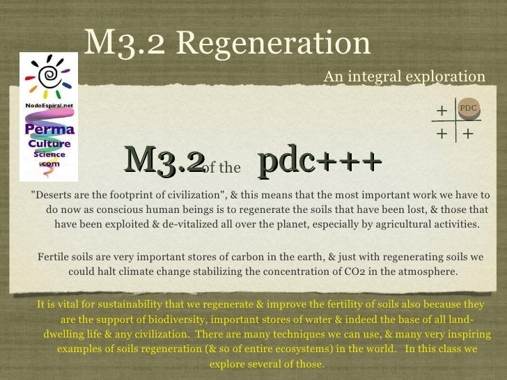 """M3.2  pdc+++ <ul><li>""""Deserts are the footprint of civilization"""", & this means that the most important work we h..."""