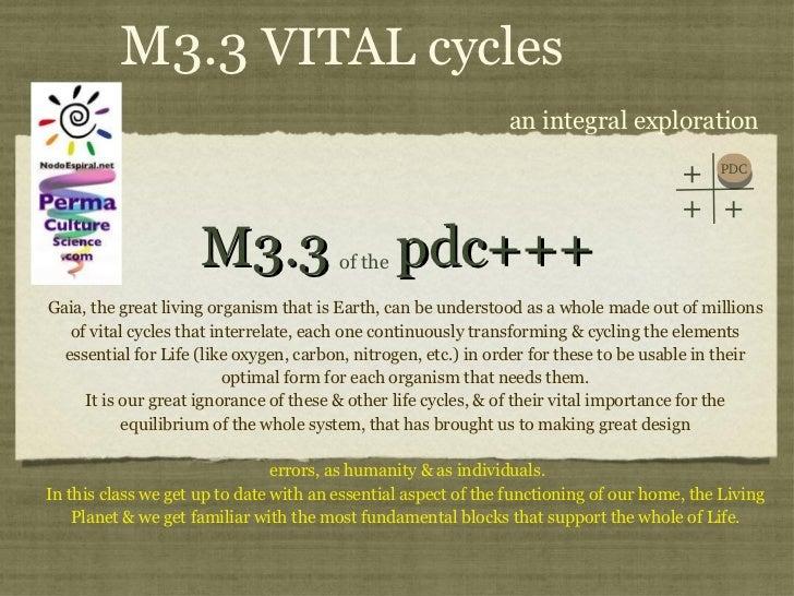 PDC+++ Module 3 Class 3 Vital Cycles