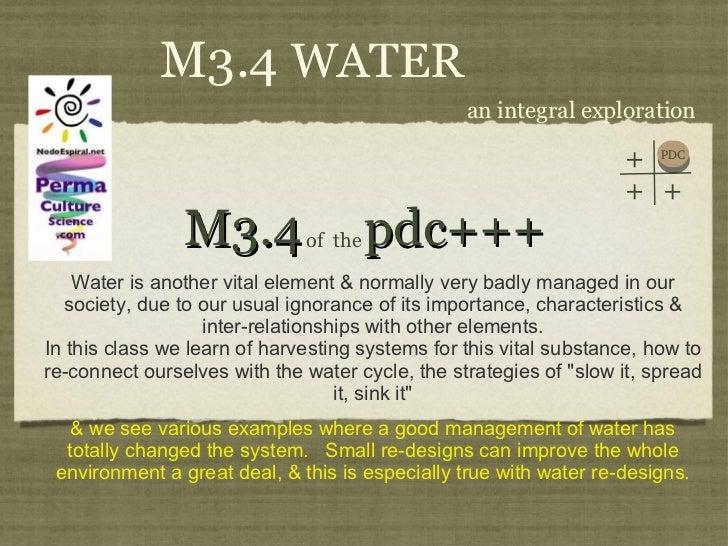 PDC+++ Module3 Class 4 Water