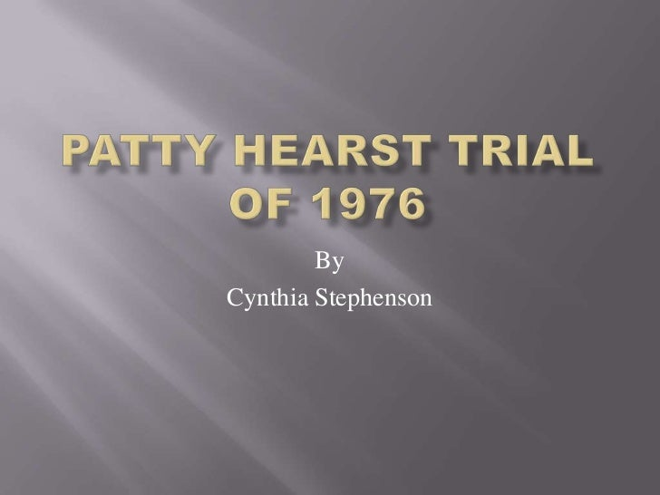 M3 A2 Patty Hearst Trial Of 1976