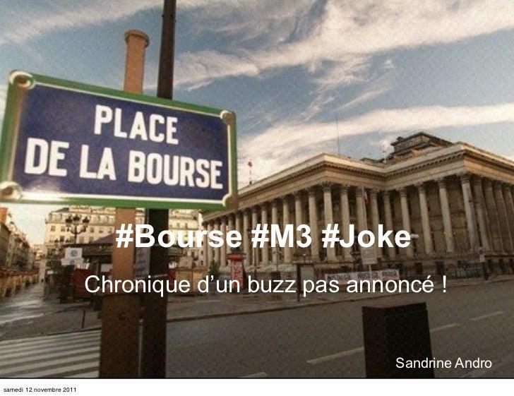 #M3 #Bourse #Joke Vd