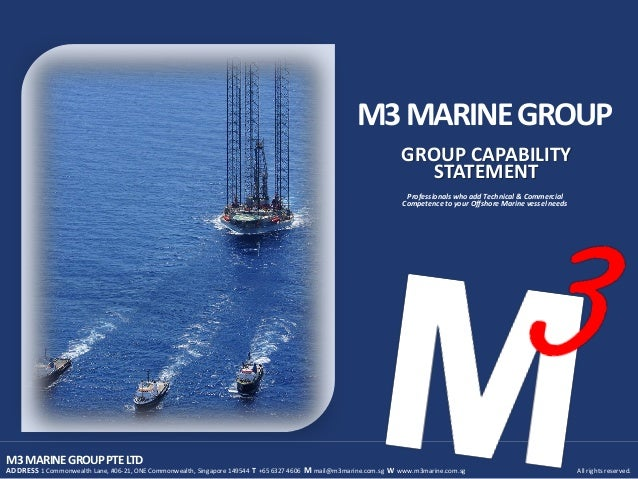 M3 Marine Group Capability Statement 2012