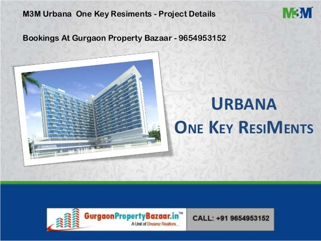 URBANA ONE KEY RESIMENTS M3M Urbana One Key Resiments - Project Details Bookings At Gurgaon Property Bazaar - 9654953152