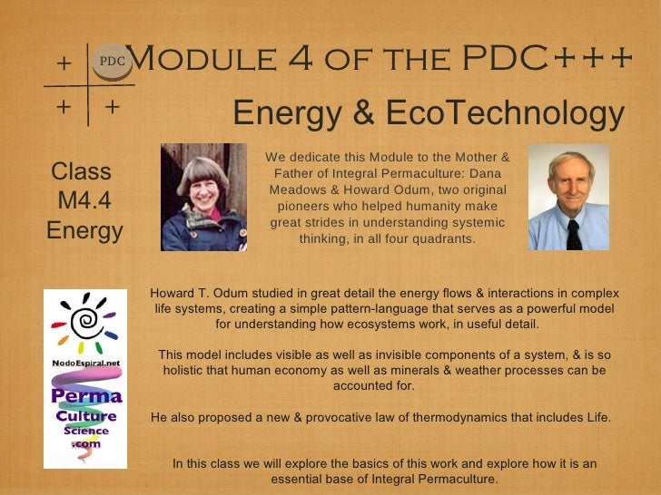 +   PDC Module 4 of the PDC++++   +                   Energy & EcoTechnology                              We dedicate this...