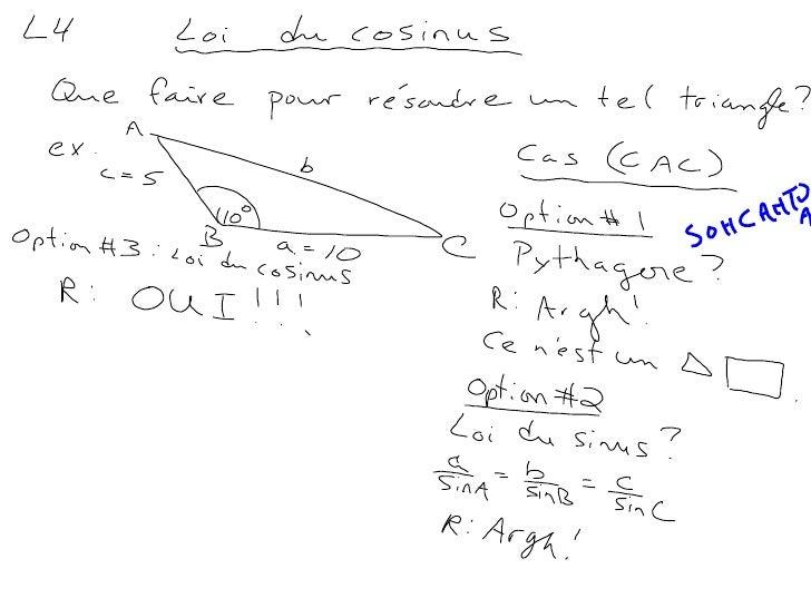 M4,L4 (Loi du cosinus)