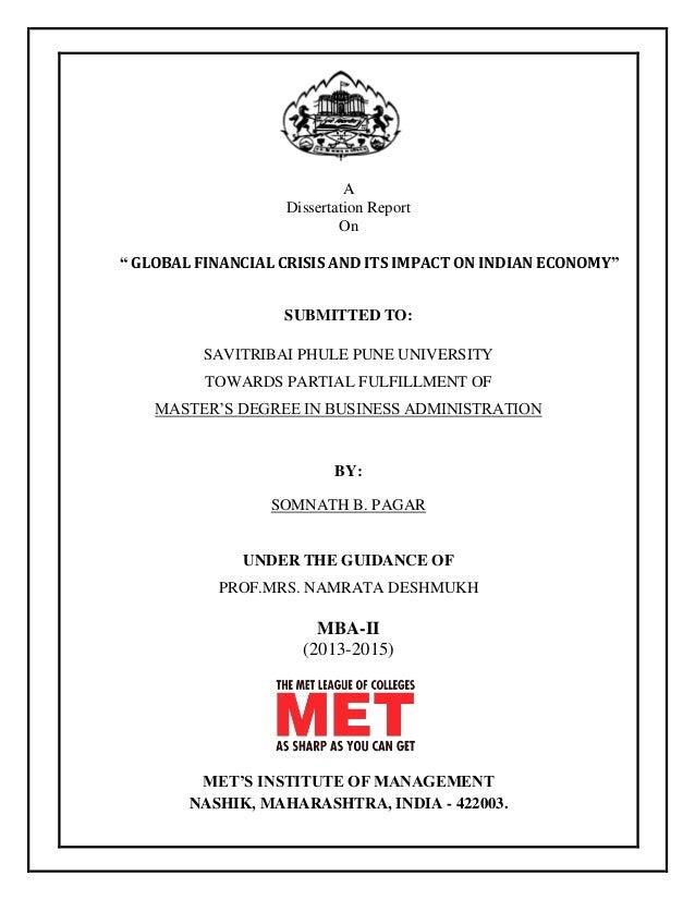 impact of global crisis on indian economy essay