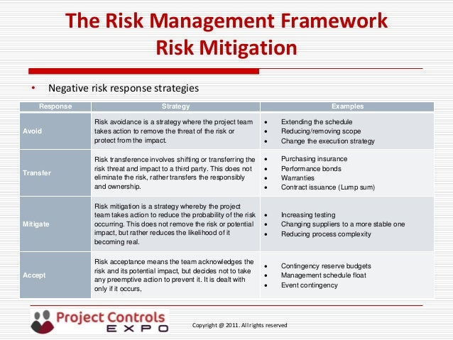 risk mitigation report template - it risk management framework template gallery template