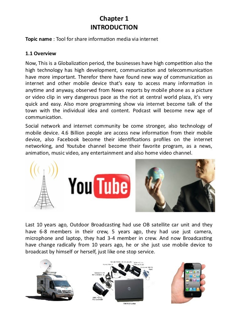 Chapter 1                                                   INTRODUCTION Topic name : Tool for share inf...