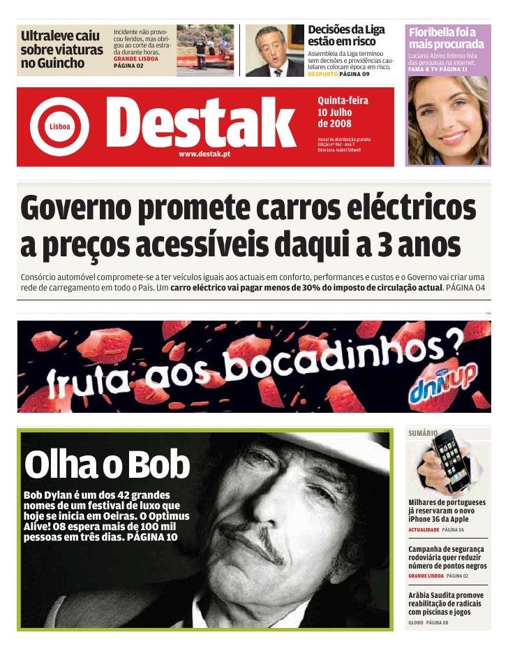 DESTAK – Lisboa – 10.07.2008