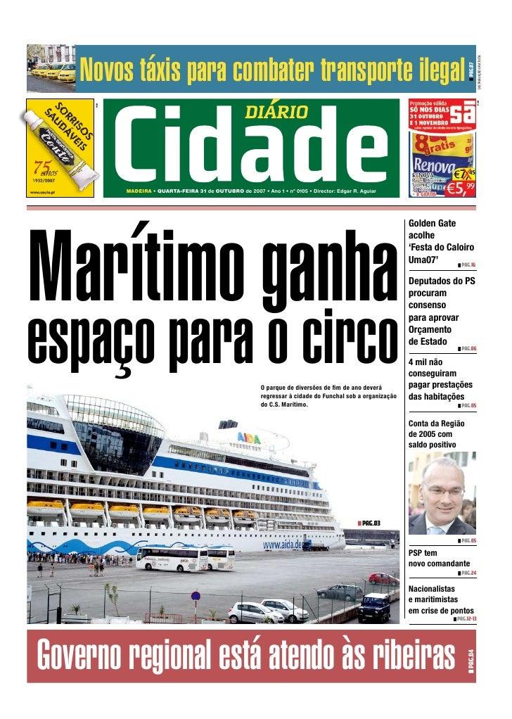 Diário da Cidade - n.º 105 - 31.10.2007