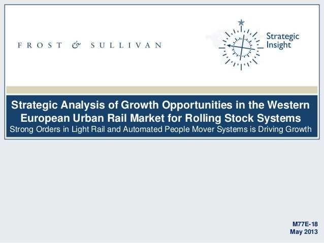 Strategic Analysis of Growth Opportunities in the Western European Urban Rail Market for Rolling Stock Systems