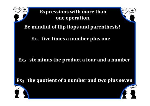M7 lesson 2 1 represent & translate algebraic exprions & equations part 2 pdf