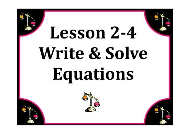 M7 lesson 2 4 write & solve equations pdf
