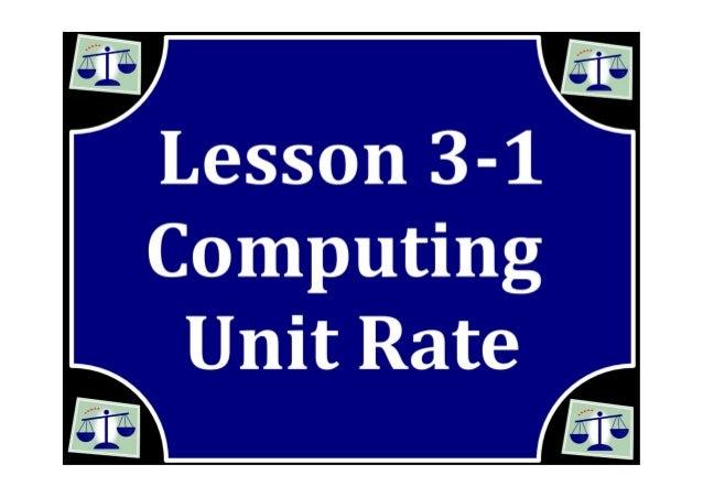 M7 lesson 3 1 compute unit rates pdf part 1