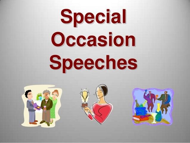 special occasion speech outline