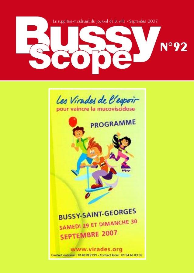 Bussy Le supplément culturel du journal de la ville - Septembre 2007                                                      ...