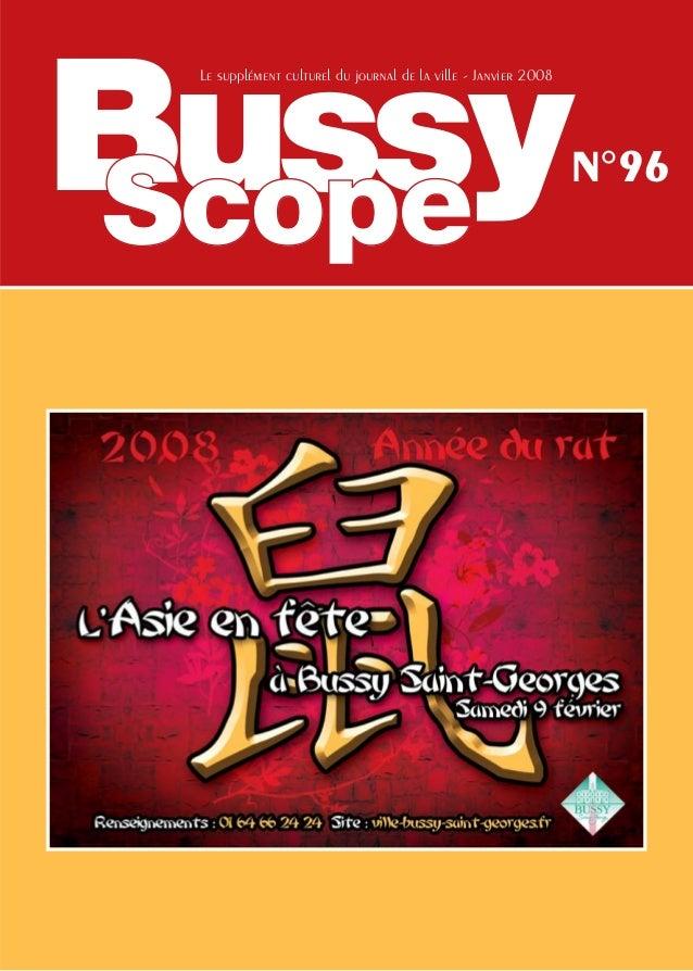 Bussy Le supplément culturel du journal de la ville - Janvier 2008                                                        ...