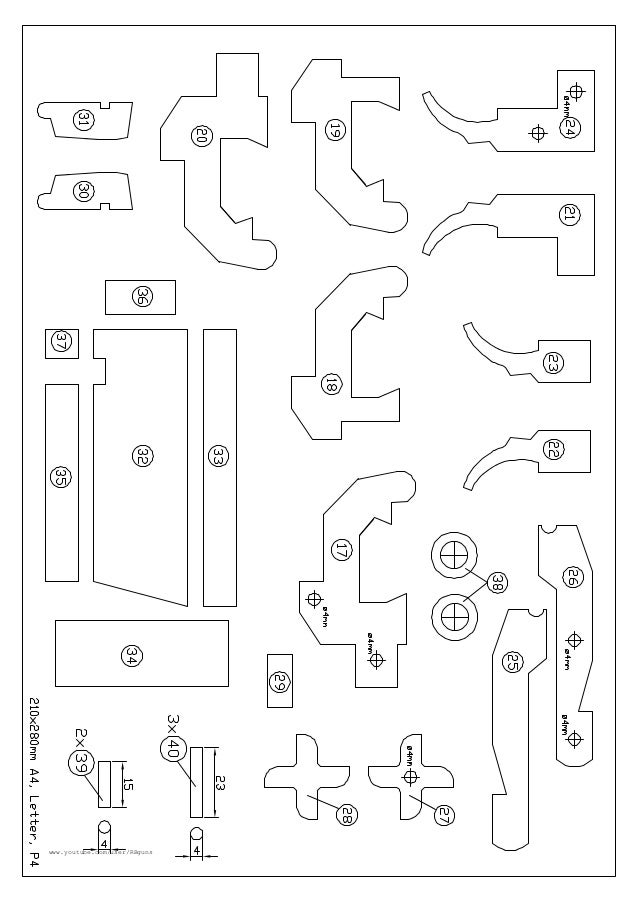Back gt Gallery For Rubber Band Gun Template