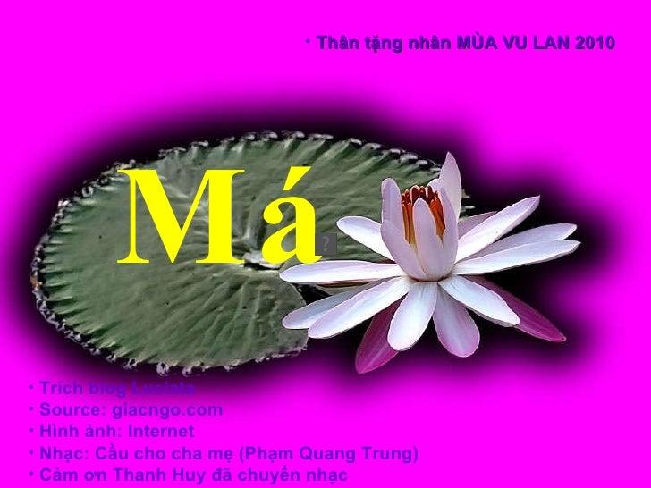 <ul><li>Trích blog Luciata  </li></ul><ul><li>Source: giacngo.com  </li></ul><ul><li>Hình ảnh: Internet </li></ul><ul><li>...