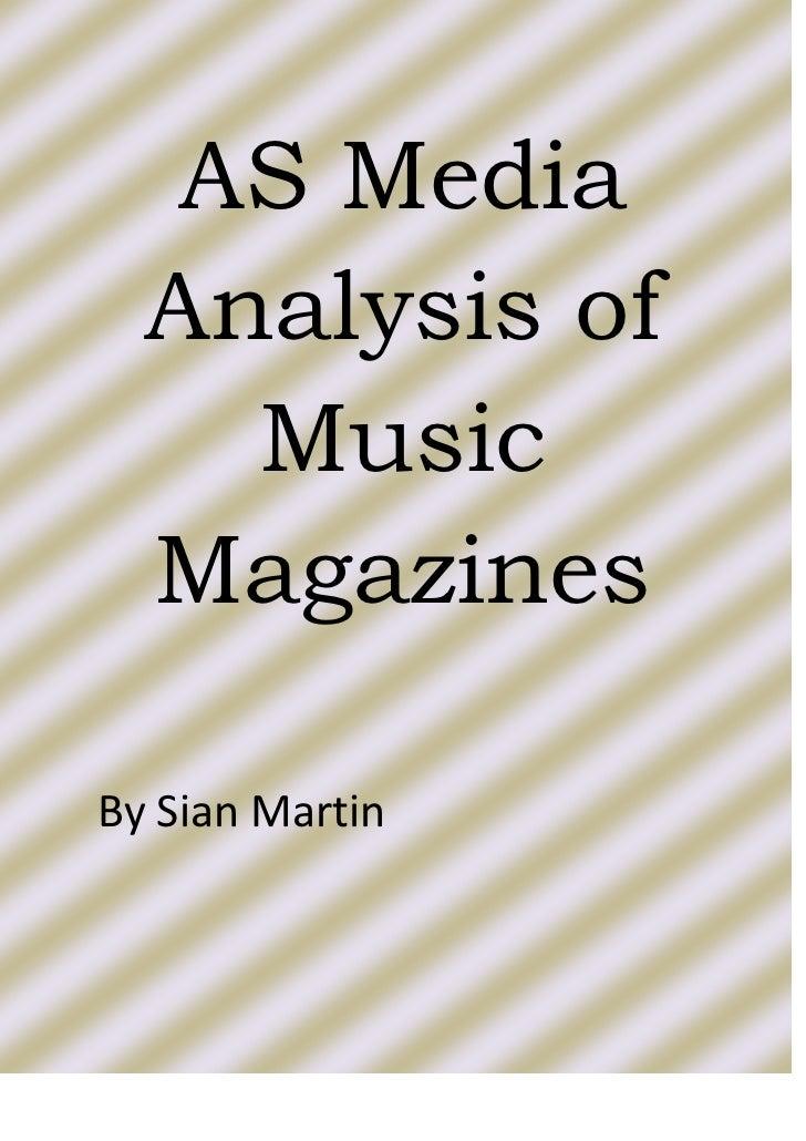 Music Magazine Analysis Research