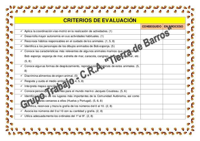 CRITERIOS DE EVALUACIÓN CONSEGUIDO EN PROCESO  Aplica la coordinación viso-motriz en la realización de actividades. (1) ...