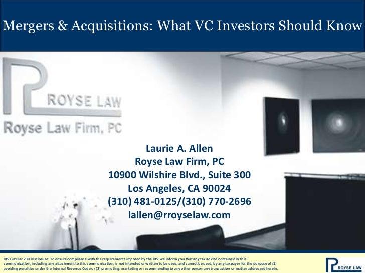 Mergers & Acquisitions: What VC Investors Should Know                                                                     ...