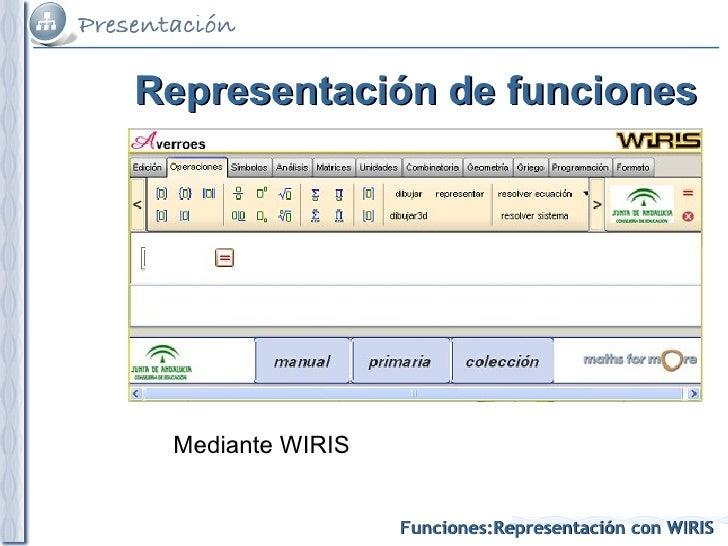 Representación de funciones Mediante WIRIS