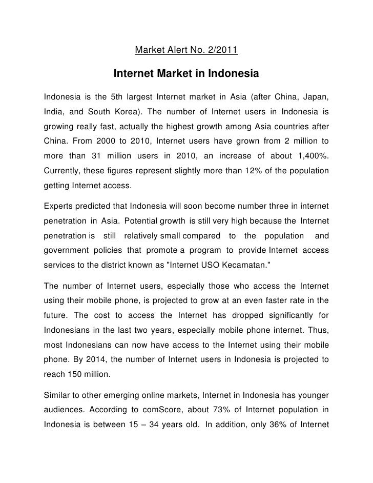 Internet Market in Indonesia June 2011