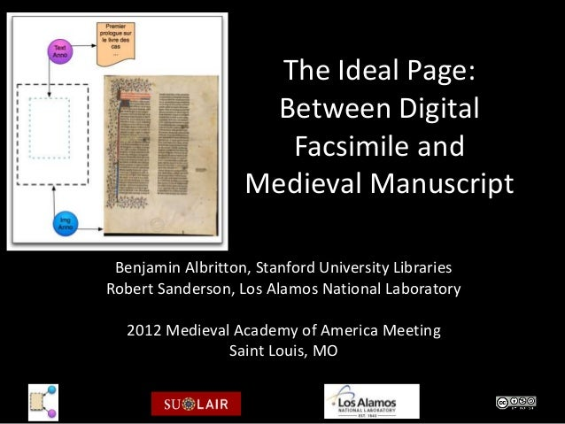 The Ideal Page:                     Between Digital                      Facsimile and                   Medieval Manuscri...