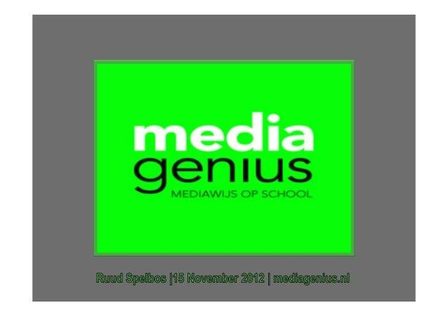 Onze jarenlange ervaring op het gebied                      van het geven van medialessen. MediaGenius is gestart vanuit ...