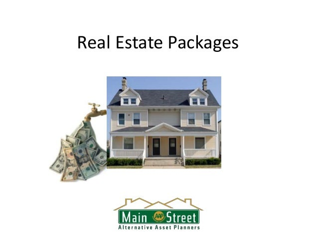 Real Estate IRA Investment Packages - Main Street Planners