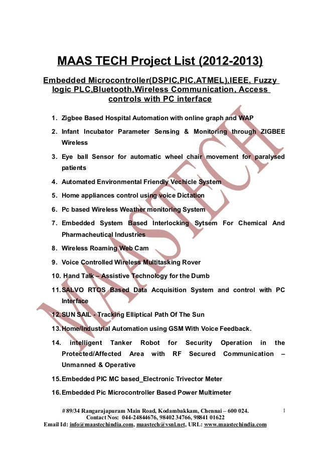 LATEST IEEE PROJECTS ON EMBEDDED SYSTEMS-IEEE PROJECTS TITLES-2012