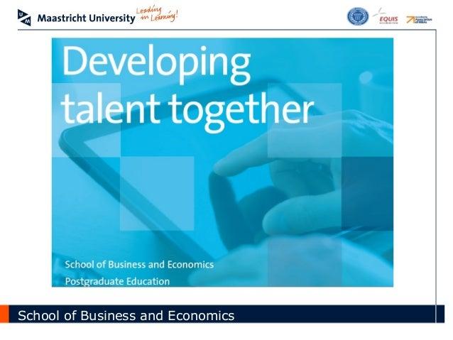 School of Business and Economics