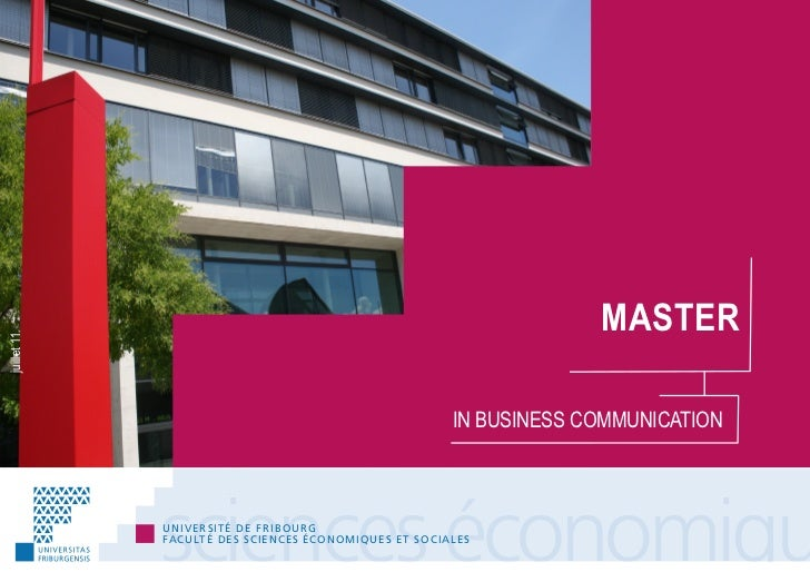 MASTERjuillet 11                                                                              IN BUSINESS COMMUNICATION   ...
