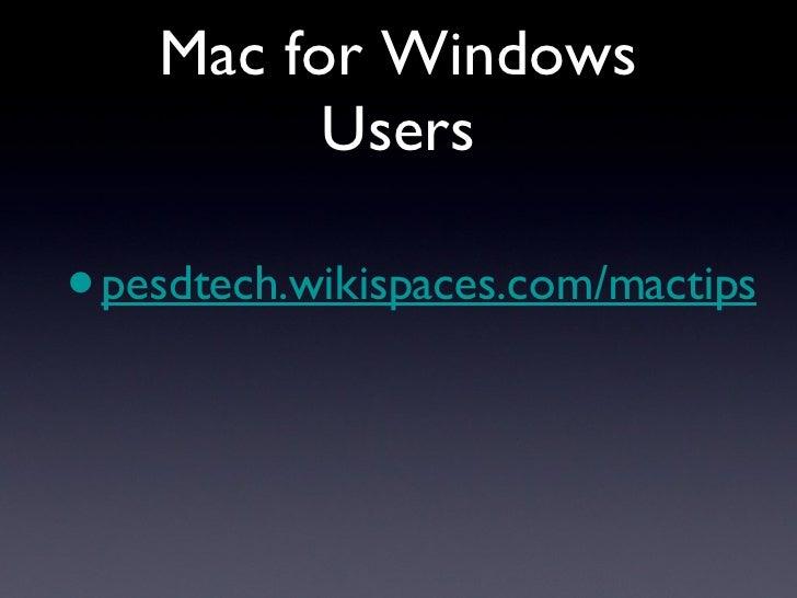 Mac For Windows