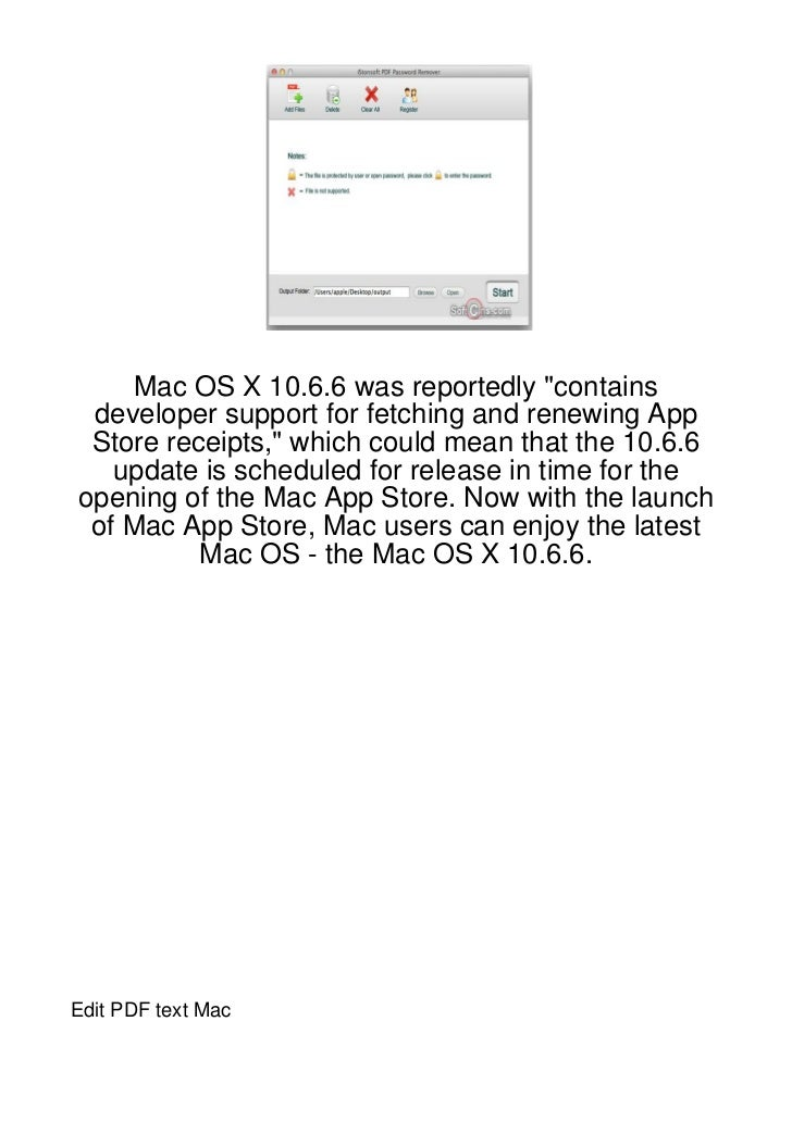 """Mac OS X 10.6.6 was reportedly """"contains developer support for fetching and renewing App Store receipts,"""" which could mean..."""