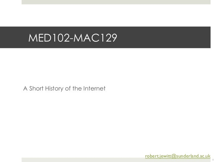 Mac129 history of internet