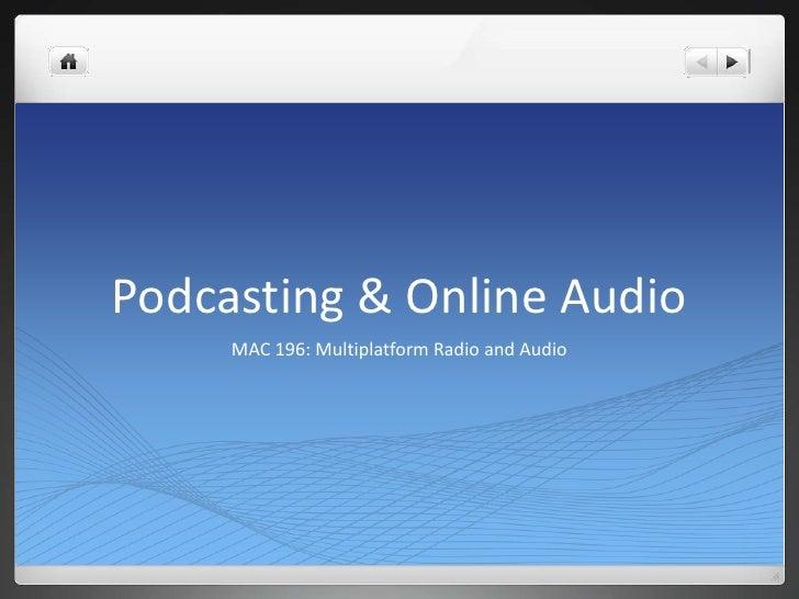 MAC196   w2 - podcasts