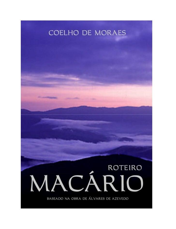 MACÁRIOCOELHO DE MORAES                                2MACÁRIO         Direitos de Cópia e Uso   Cecília Bacci & Guilherm...
