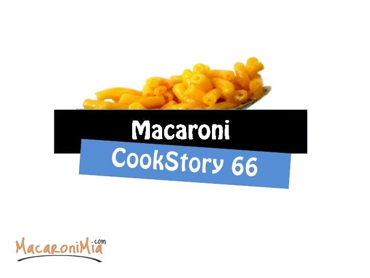 Macaroni cookbook