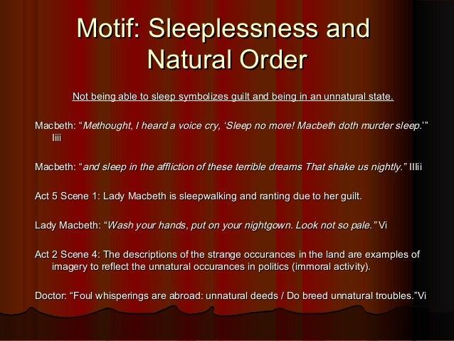 macbeth sleep motif essay Title: length color rating : importance of sleep in shakespeare's macbeth essay - sleep in macbeth it is natural to want to sleep after working hard.