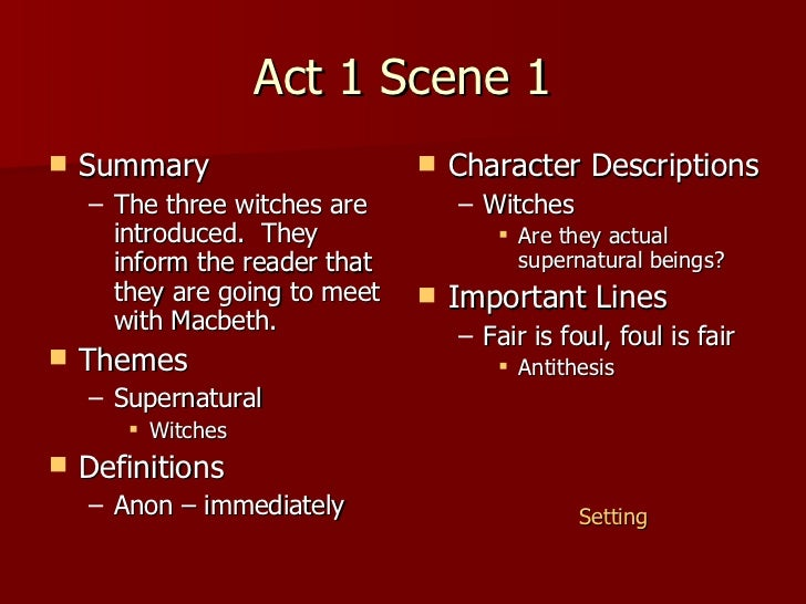 macbeth act 1 scene 3 essay Act 3 scene 1 macbeth themes essay august 2004 global regents essay on nationalism essay on joy of living in the lap of nature ethan 3 themes scene essay act macbeth 1.