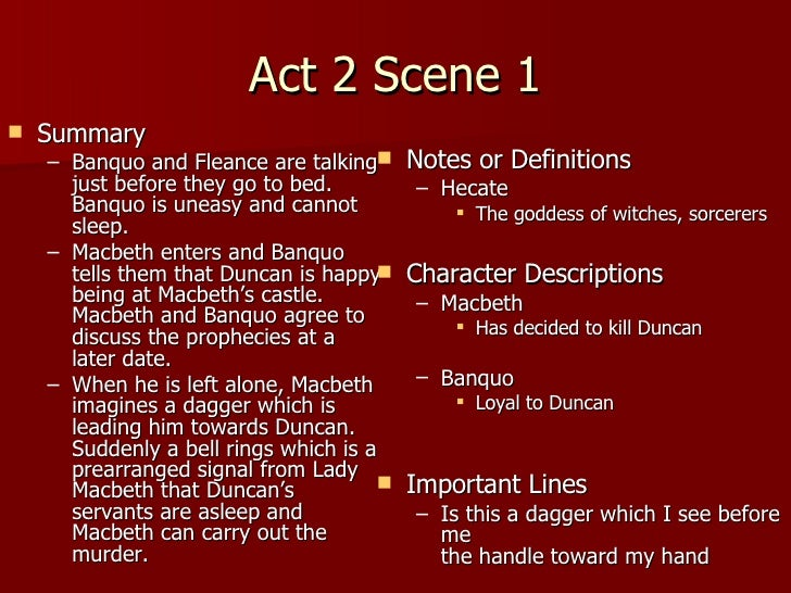 macbeth essays act 2 scene 2