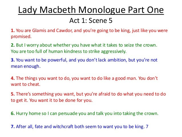 Lady macbeth ambition