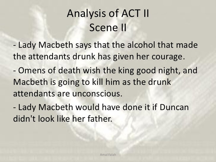 an analysis of act two of macbeth Macbeth study guide contains a biography of william shakespeare, literature essays, a complete e-text, quiz questions, major themes, characters, and a full summary and analysis.