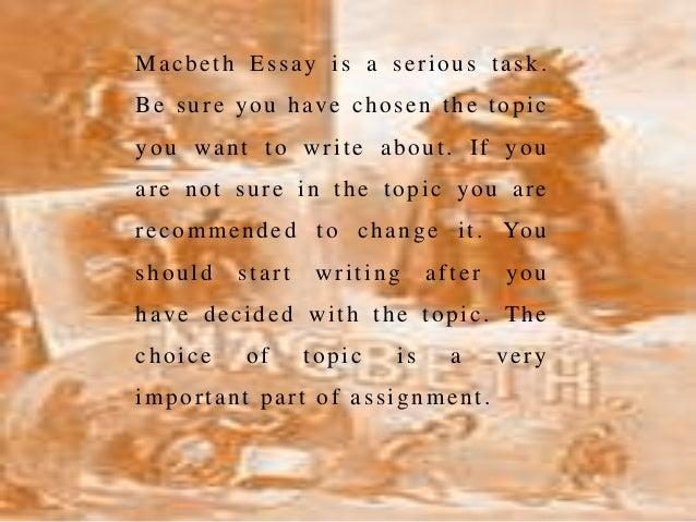 Macbeth essay questions