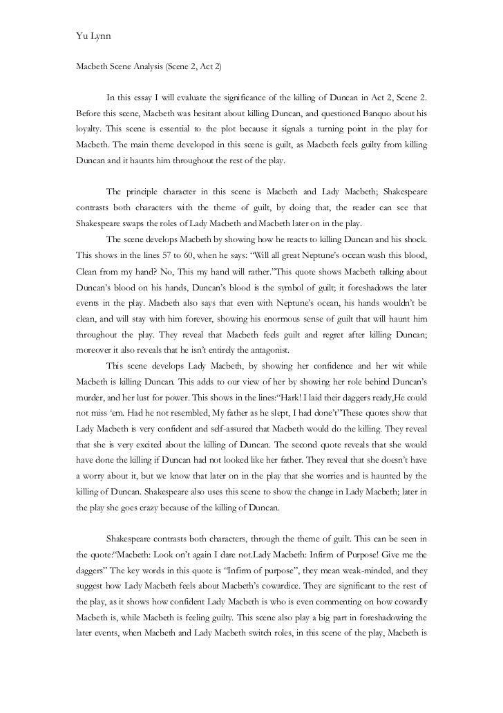 Macbeth essay examples
