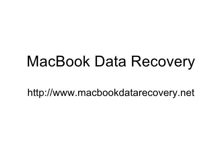 Macbook Data Recovery - Undelete Lost Files
